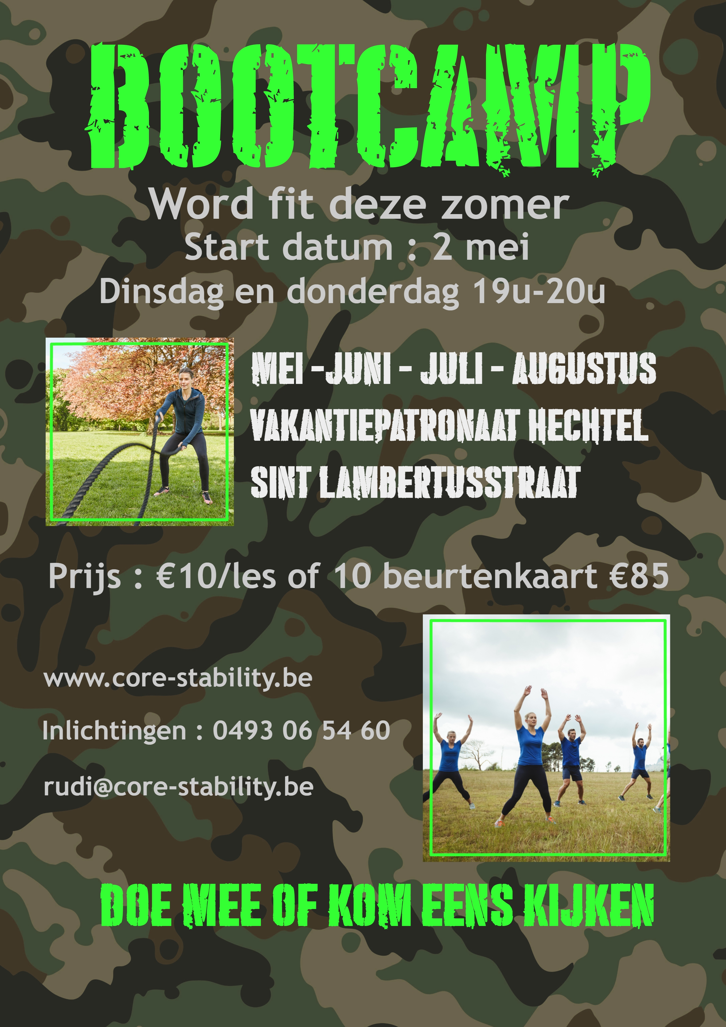 Core Stability Bootcamp Hechtel Eksel Fit worden